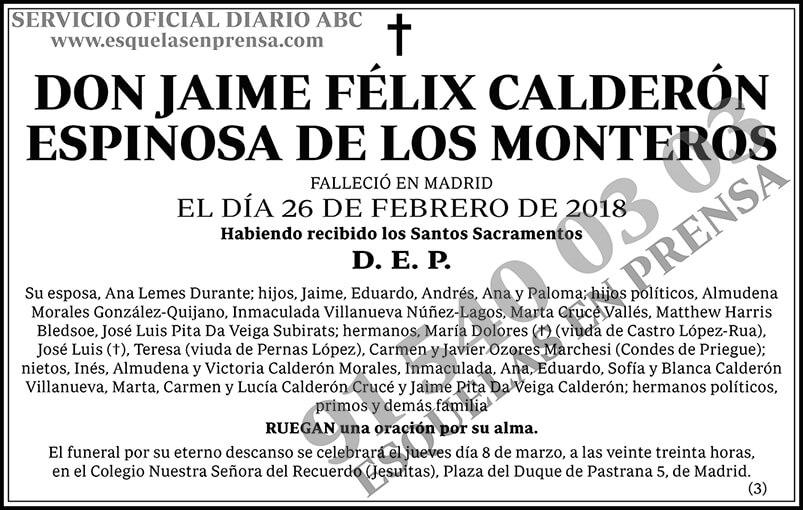 Jaime Félix Calderón Espinosa de los Monteros